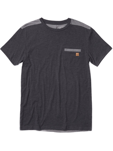 tentree Plane Grain T-Shirt Men Meteorite Black/Woodgrain Black
